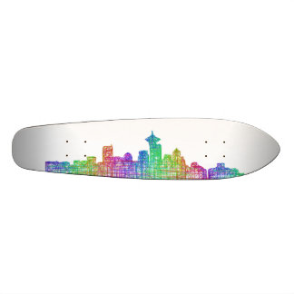 Vancouver skyline skateboard