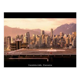 Vancouver Skyline Sunrise Panorama Postcard