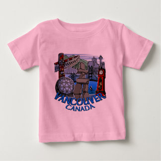 Vancouver Souvenir Baby T-shirts Landmark Baby Tee
