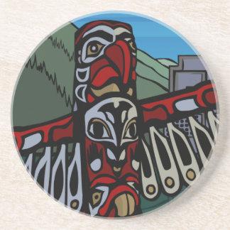 Vancouver Souvenir Coaster Totem Pole Landmark Gif
