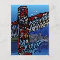 Vancouver Souvenir Postcards - Totem Pole Landmarks postcard
