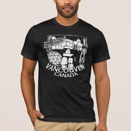 Vancouver souvenir t shirt landmark tee shirts zazzle for Vancouver t shirt printing