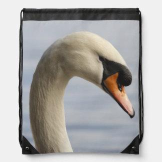 Vancouver, Stanley Park, Mute Swan (Cygnus olor) 2 Drawstring Bag