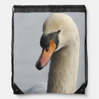Vancouver, Stanley Park, Mute Swan (Cygnus olor) Drawstring Backpack