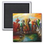 Vancouver Sunrise Fridge Magnet