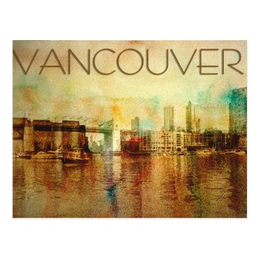 iiphotoArt Vancouver Water Color Postcard