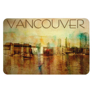 Vancouver Water Color Rectangular Photo Magnet
