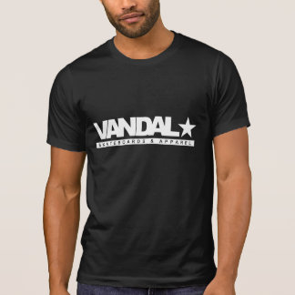 VANDAL★ T-Shirt S&A Logo (White on Black)