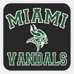 Vándalos de Miami Calcomanías Cuadradas Personalizadas
