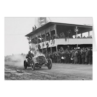 Vanderbilt Cup Auto Race, 1908 Card