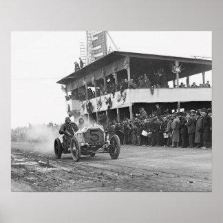 Vanderbilt Cup Auto Race 1908 Poster