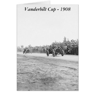 Vanderbilt Cup Auto Race early 1900s Greeting Card