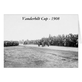Vanderbilt Cup Auto Race, early 1900s Greeting Card