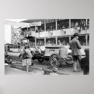Vanderbilt Cup Race Car: 1910 Print