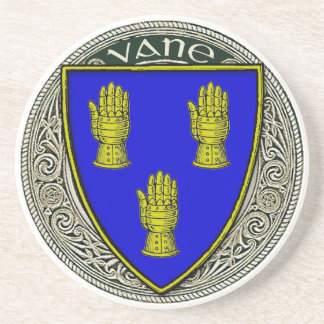 Vane Family Arms Sandstone Coaster