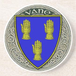 Vane Family Arms Sandstone Coaster