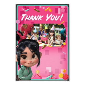 Vanellope Birthday Thank You Cards