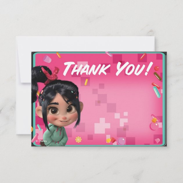 Personalised Disney Character Birthday Party Thank You Cards inc Envelopes D6TY