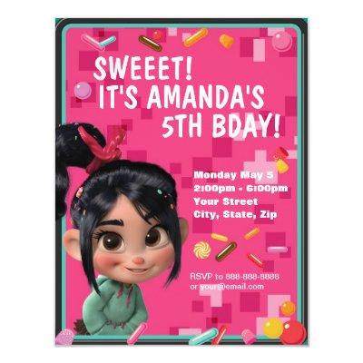 wreck it ralph birthday invitation zazzle com