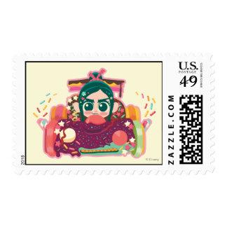 Vanellope Von Schweetz Driving Car Stamp