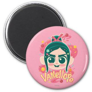 Vanellope Von Schweetz Face 2 Inch Round Magnet