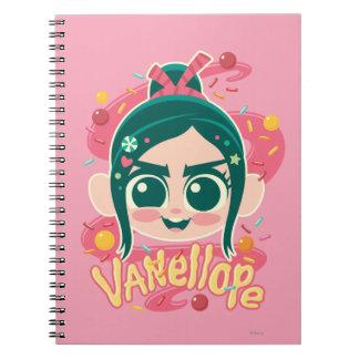 Vanellope Von Schweetz Face Notebooks