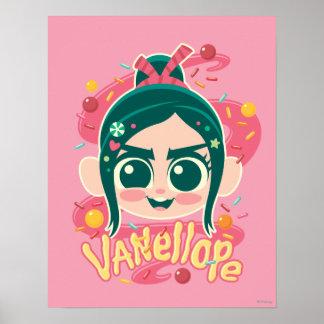 Vanellope Von Schweetz Face Poster