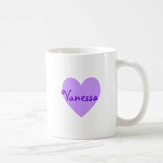 Vanesa en púrpura taza