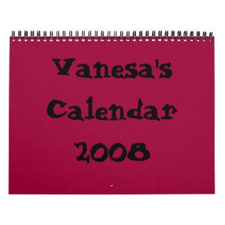 Vanesa's Calendar 2008
