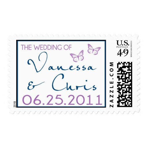 Vanessa and Chris Postage - Wedding Invitations