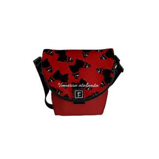 Vanessa atalanta messenger bag