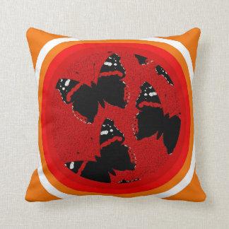 Vanessa atalanta throw pillow