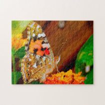 Vanessa Cardui Butterfly. Jigsaw Puzzle