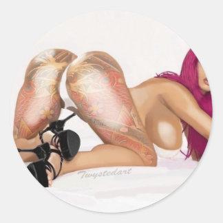 Vanessa Classic Round Sticker