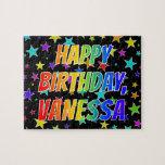 "[ Thumbnail: ""Vanessa"" First Name, Fun ""Happy Birthday"" Jigsaw Puzzle ]"