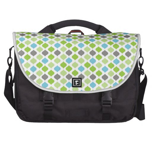 """""""Vanessa"""" Stripes in green, blue and grey Bag For Laptop"""