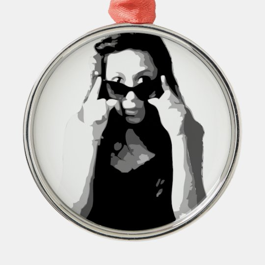 vanessaVector_SQ.jpg Metal Ornament