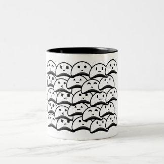 Vaneztastic flooded white blob ghosts mug