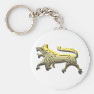 Vang Runestone-etched gold Basic Round Button Keychain