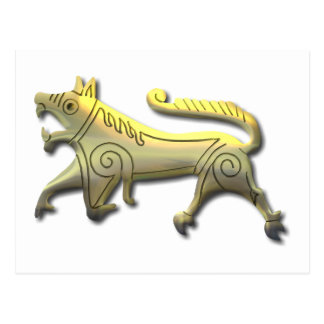Vang Runestone-etched gold Postcard