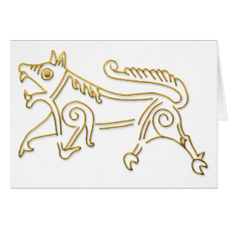 Vang Runestone-gold outline Greeting Card