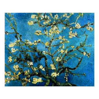 VanGogh Almond Tree Blossoms Poster