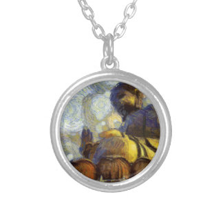 vangogh_budha silver plated necklace