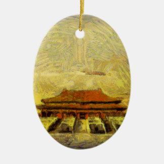 vangogh Forbidden-City Ceramic Ornament