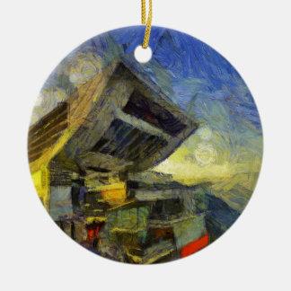 vangogh hong kong peak ceramic ornament
