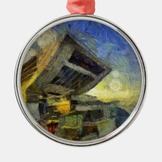 vangogh hong kong peak metal ornament