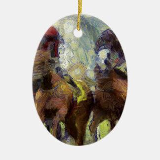 vangogh_horseracinghk ceramic ornament