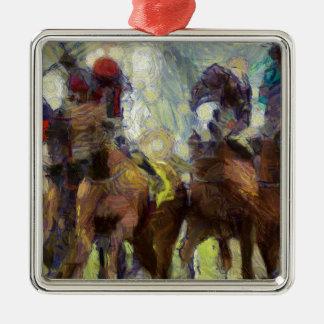 vangogh_horseracinghk metal ornament