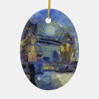 vangogh londonbridge ceramic ornament