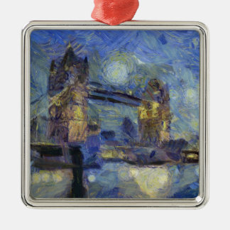 vangogh londonbridge metal ornament
